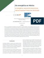 Transición energética en México. Estado del sector energético, avance de compromisos ambientales y rol de las Empresas Productivas del Estado
