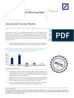 Deutsche Bank - January 2021 Survey Results