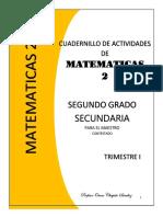 PDF Cuadernillo de Segundo Grado de Matematicas Secundaria Compress