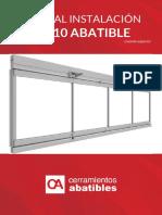 Manual de Instalación CA-10 Abatible