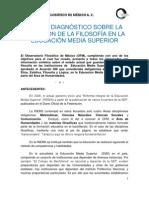 Diagnostico de La Situacion de La Filosofia en Las Escuelas de Mexico