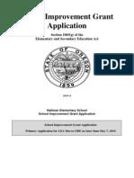 Hallman 2010 School Improvement Grant Application