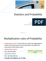 10th Lecture (Multiplicative Rules of Probability)