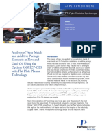 PKI_AN_2011_Analysis of Wear Metals and Additive Package Elements in New and Used Oil Using the Optima 8300 ICPOES With Flat Plate Plasma Technology