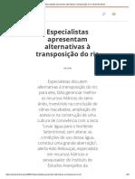 2003_12_20_Especialistas Apresentam Alternativas à Transposição Do Rio _ Repórter Brasil