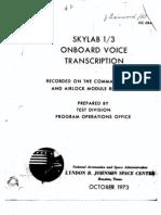 Skylab 1/3 Onboard Voice Transcription Part 2 of 4