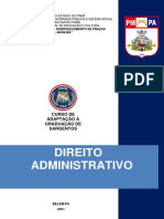 DIREITO ADMINISTRATIVO CGS 2021