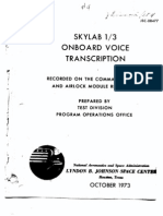 Skylab 1/3 Onboard Voice Transcription Part 4 of 4