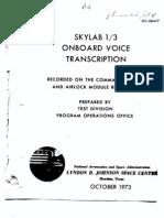 Skylab 1/3 Onboard Voice Transcription Part 4 of 4