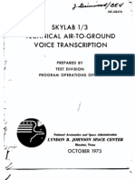 Skylab 1/3 Technical Air-To-Ground Voice Transcription 1 of 6
