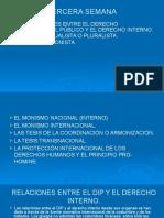 3. RELACIONES ENTRE EL DERECHO INTERNACIONAL PÚBLICO Y EL DERECHO INTERNO