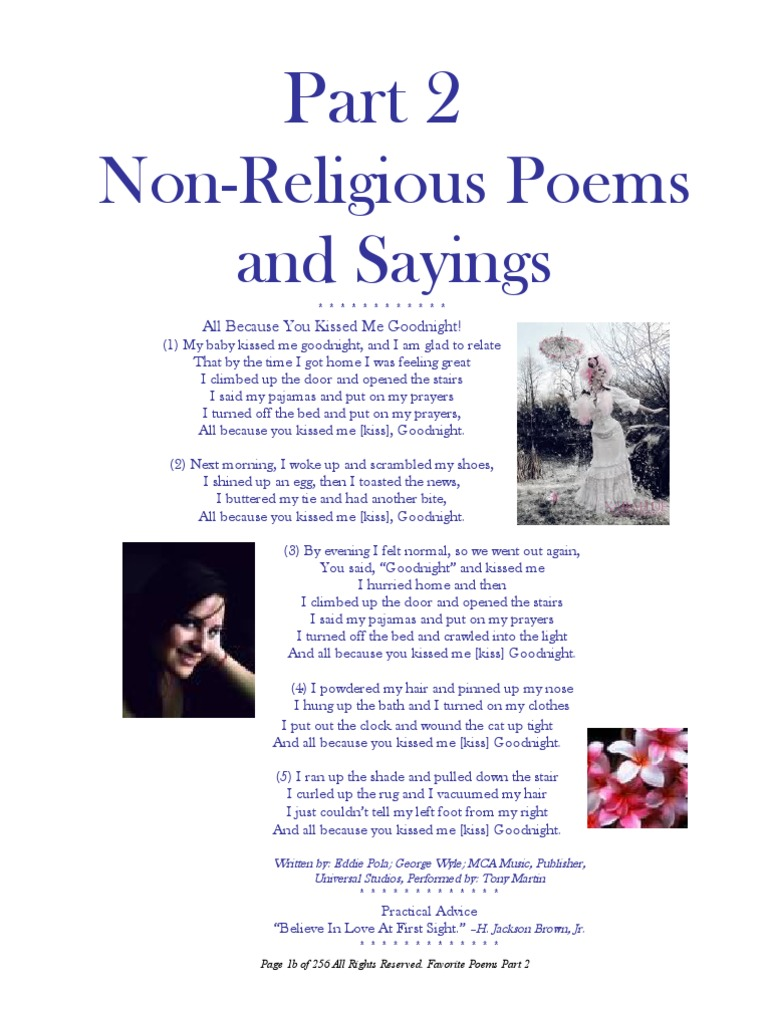 Esthers Non Spiritual Poems Part B Poetry Religion And Belief
