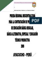 Examendecontratodocentedeayacucho2009