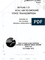 Skylab 1/3 Technical Air-To-Ground Voice Transcription 5 of 6