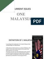 1 Malaysia Konsep