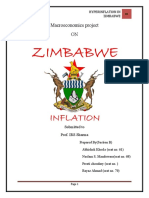 Hyper Inflation in Zimbabwe