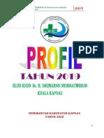 Profil RSUD dr. H. Soemarno Sosroatmodjo Kuala Kapuas Tahun 2019