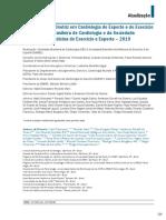 Diretriz Cardiologia Esporte e  Exercicio - 2019 - Port