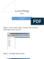 Curve fitting using MATlab