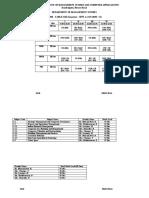 III Sem - Time - Table