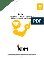 arts9_q1_mod7_Western Classical Art Traditions_v3