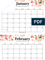 Word Calendar 2021_Shining Mom_Floral_Version
