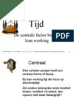 Tijd Focus Binnen Lean (P23)