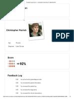 Feedback Log & Score — Christopher ParrishApr 01, 2020 8_53 PM