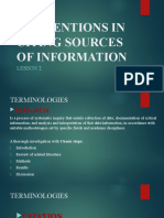 LESSON 2 CONVENTIONS IN CITING SOURCES OF INFORMATION