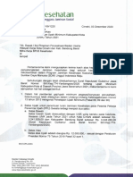Surat Pemberitahuan Kenaikan UMK Tahun 2021