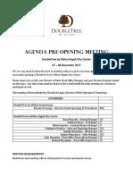 KGLDT pre-opening meeting agenda