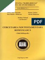 Cercetarea Noutestamentara Romaneasca - Ghid Bibliografic