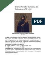 Acatistul Sfintei Fericitei Eufrosina Din Koliupanovo