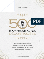 500 expressions decortiquees - Jean Maillet