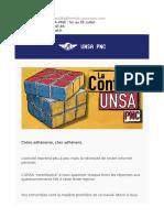 La Contrib' UNSA-PNC  1er au 15 Juillet
