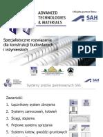Specjalistyczne rozwiązania dla konstrukcji budowlanych i inżynierskich  przy wykorzystaniu prętów gwintowanych SAS - ATM Sp. z o.o.