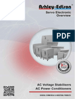 Voltage Stabilizers and AC Power Conditioners - Servo Electronic Range