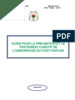 Guide pour la prévention et le traitement de l'HPP VF