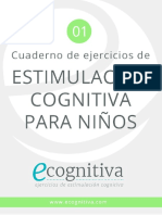 Estimulacion Cognitiva Ninos PDF Ecognitiva