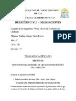 UBICACIÓN DEL DERECHO DE OBLIGACIONES DENTRO DEL DERECHO
