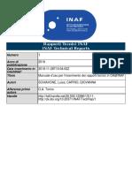Manuale d'uso per l'inserimento dei rapporti tecnici nel repository OA@INAF