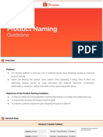 Product Naming Guidelines