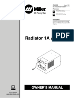 Miller Tig Radiator 1A and 2A