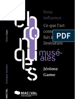 Jerome Game Sous_influence_ce_que_lart_contemporain_fait_a_la_litterature