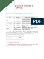 PREVENCIÓN DE RIESGOS ESPECÍFICO DE PERSONAL DE SERVICIOS