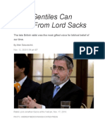 What Gentiles Can Learn From Lord Sacks