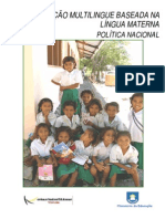 EDUCAÇÃOMULTILINGUEBASEADANALÍNGUAMATERNA :POLÍTICANACIONAL