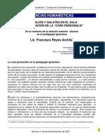 Reyes, F., 2007, Pygmalión y Galatea Cura Personalis