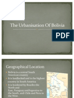 The Urbanization of Bolivia