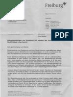 Drehgenehmigung und Einstellung von Debatten des Gemeinderates der Stadt Freiburg in das Internet